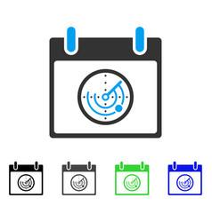Radar calendar day flat icon vector