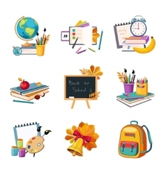 School and eduction related sets of objects vector