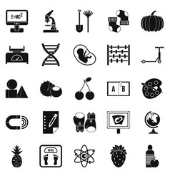 Scientific approach icons set simple style vector