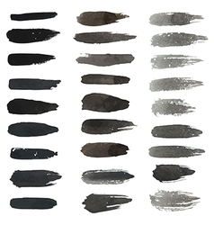 Set of grungy hand-painted brush strokes vector