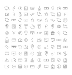 Set outline icon vector image