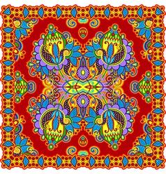 Traditional ornamental floral paisley bandana vector
