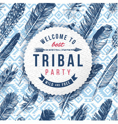 Tribal party emblem vector