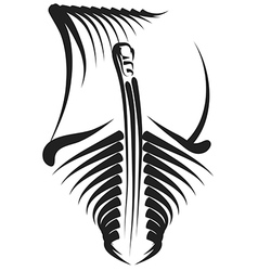Viking ship design vector image
