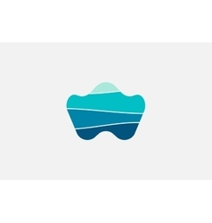 Wave logo Business Icon Blue logo Company logo vector image