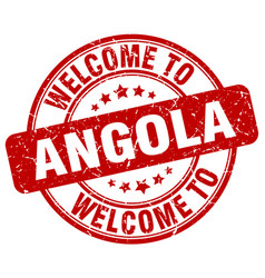 welcome to angola vector image vector image