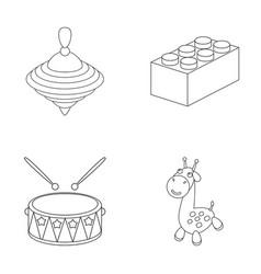 Yula lego drum giraffetoys set collection vector
