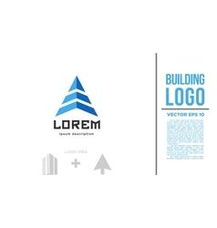 Building arrow logo vector