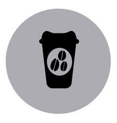 Blue contour coffee espresso icon vector