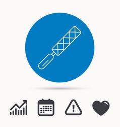 File tool icon carpenter equipment sign vector