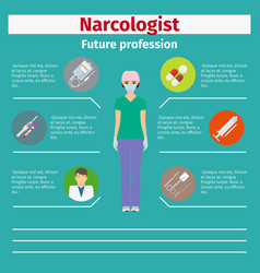 Future profession narcologist infographic vector