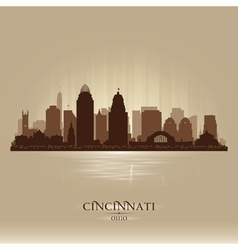 Cincinnati ohio city skyline silhouette vector