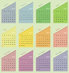 Classical calendar on a light background vector