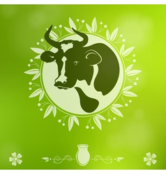Cow logo vector