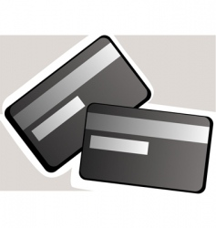 Debit cards vector