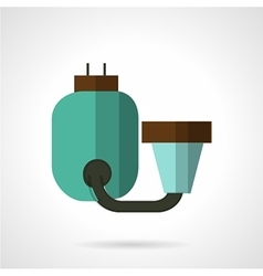 Flat color water filter icon vector