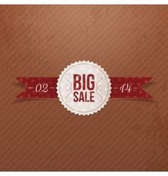 Valentines day big sale realistic paper emblem vector