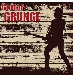 guitar grunge vector image