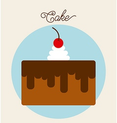 Sweet cake design vector