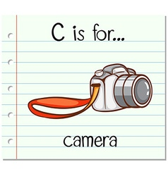 Flashcard alphabet c is for camera vector