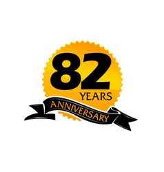82 years ribbon anniversary vector image vector image