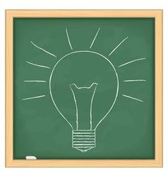 Hand drawn bulb vector image