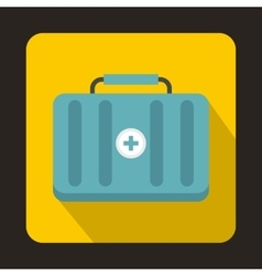 First aid kit icon flat style vector