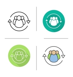 Team management icons vector