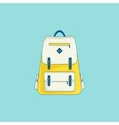 Backpack icon in line flat style vector