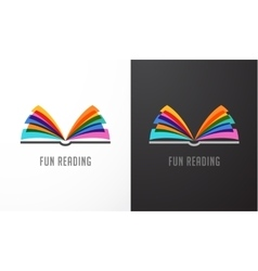 Open book - colorful concept icon of education vector image