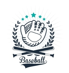 Baseball glove sport design graphic vector