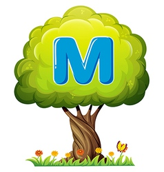 A tree with a letter M vector image vector image