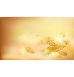 Abstract composition with gold coins vector