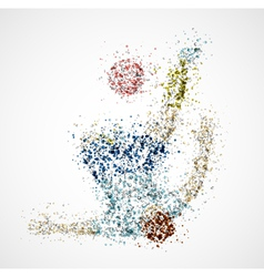Abstract football player2 vector image vector image