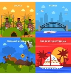 Australia Concept Icons Set vector image