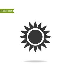 Black flat silhouette object of flower for logo vector