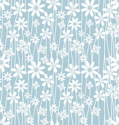 blue flower pattern vector image