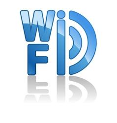 Blue wifi icon vector