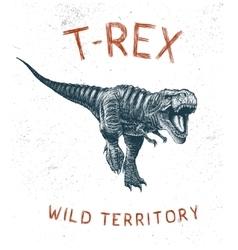 Dinosaur t-rex running vector