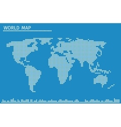 Earth globe world map of dots vector image vector image