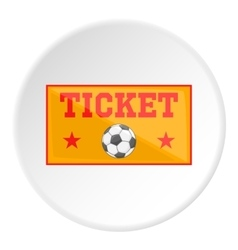 Football ticket icon cartoon style vector