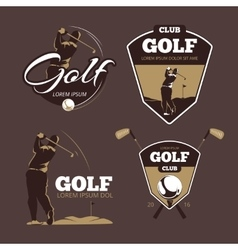Golf country club logo templates vector image vector image