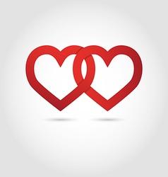 Hearts linked symbol vector
