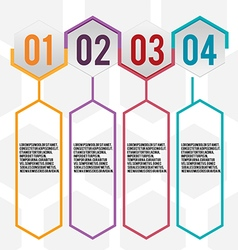 Hexagon Design Info Graphic Template vector image
