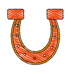 horseshoe vector image