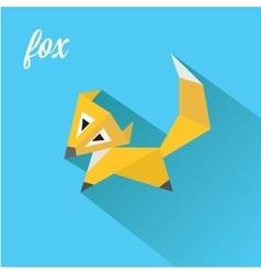 little fox fox flat icon vector image