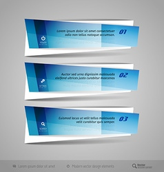 Modern glossy banners vector