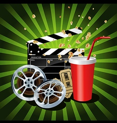 Movie theme objects vector