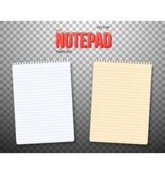 Paper Notebook with White and Yellow Sheets vector image