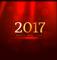 Red background with golden 2017 text vector